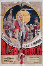 FLESH GORDON beautiful mint original 1974 OUTRAGEOUS PARODY movie poster 1 sheet