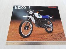 brochure depliant originale Kawasaki KE 100 prospekt