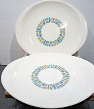 """TWO Canonsburg Temporama 13 3/4"""" * 12"""" Oval Serving Platters"""