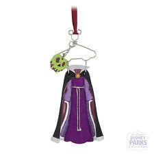 Disney Parks Evil Queen Costume on Hanger Christmas Ornament Dress Poison Apple