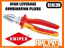 KNIPEX 0206200 - HIGH LEVERAGE COMBINATION PLIERS - 1000V VD 200MM CUTTING EDGES