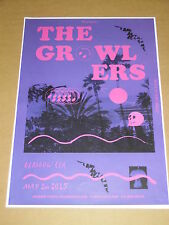THE GROWLERS live music band show may 2015 promotional tour concert gig poster