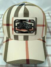 New Burberry Mens Baseball Hat Cap Adjustable Cap Hat Unisex Golf Cap Beige