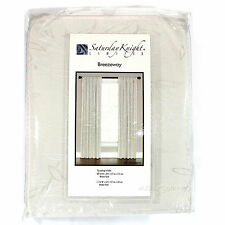 """NEW Breezeway Curtain/Window Treatment Panel Embroidered Tan/Natural 84"""" or 63"""""""