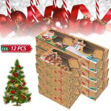 12PCS Christmas Candy Cookie Boxes Bakery Gift Boxes Cupcake Muffin Cake Box