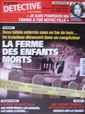 Détective n°1071 (26 mars 2003) Rennes : la ferme des enfants morts - Mulhouse