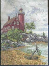 EAGLE HARBOR LIGHT--Lighthouse--Anchor--Nautical-Rocks--Counted Cross Stitch KIT