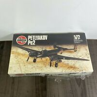 RARE AIRFIX 03034-2 PETLYAKOV PE2 SOVIET FIGHTER BOMBER PLASTIC MODEL KIT 1/72