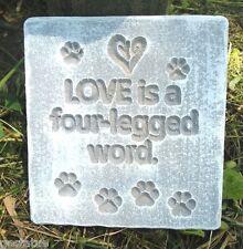 """Dog cat love mold  6"""" x 5.5"""" Plastic concrete plaster casting mould"""