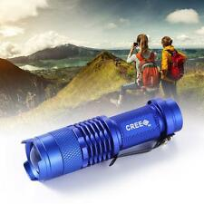 CREE Q5 3500Lm LED Flashlight Torch Lamp Adjustable Focus Zoom Light Blue TL
