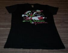 Women's TEEN Looney Tunes SANTA MARVIN THE MARTIAN CHRISTMAS T-Shirt XL NEW