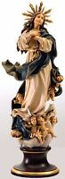 Statua Madonna Assunta Legno Con Aureola - Our Lady of Assumption With Aureole
