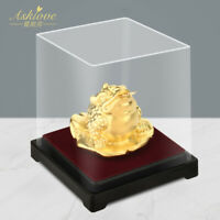 Money Frog FengShui Toad Chinese Golden Fortune Toad Lucky Wealth Ornament Craft