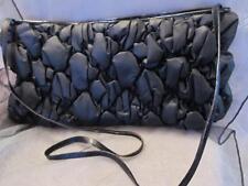 Vintage Timmy Woods of Beverly Hills 1977 Black Satin Evening Handbag Purse Rare