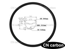 27.5 inch carbon Mountain bicycle rim 30mm widthx 25mm Clincher Tubeless