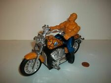 Electronic Thing Motorcycle & Figure, Harley Bike, Bump & Go, Fantastic Four