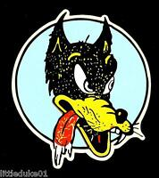 """LONE WOLF"" Sticker Decal Hot Rod Car Surfboard Surfing Panel Van Ute Rat Fink"