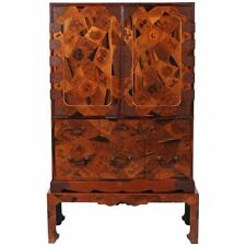 Rare Japanese Marquetry Cabinet with Drawers on Stand
