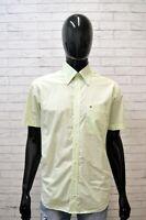 Camicia Uomo TOMMY HILFIGER Taglia L Maglia Polo Quadri Cotone Shirt Verde Hemd