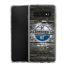 Samsung Galaxy S10 Silikon Hülle Case - SC Paderborn Holz