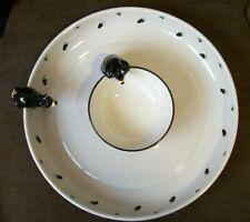 New ListingBig Sky Carvers Jim Fleming Bearfoots Chip & Dip Bowl & Platter with Cub / Bear
