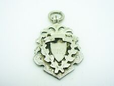 Silver Watch Fob Medal, STERLING, Diving or Swimming, 1907, Burrage Grove
