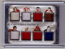 JACQUES PLANTE YZERMAN GUY LAFLEUR CROSBY 14/15 Leaf In The Game Used 8X Jersey