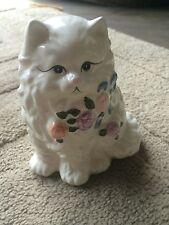 Vintage ceramic large cat planter #21