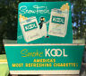 VTG KOOL CIGARETTES METAL DISPLAY WILLIE THE PENGUIN Advertising 1950's.