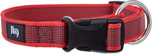 Julius-K9 Color & Gray Collar, 25 Mm (39-65 Cm), Red-Gray