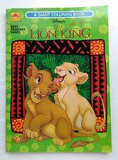Disney's Lion King Giant Coloring Book Golden 1994 Vintage #3437