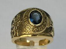 Knights Templar Masonic Mason 9x7 mm 1.80 Ct. September Blue Men Ring Size 10