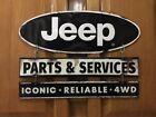Jeep Sign Parts Service Garage Truck Car Vintage Style Gas Oil Bar Pub Lift Kit