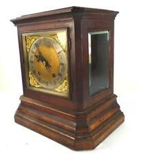 Antico tedesco WINTERHALDER & HOFMEIER tíng Tang Mantle Clock vetro a caso