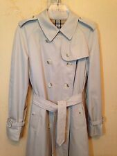 genuine double-breasted BURBERRYS trench coat mac size 16 long