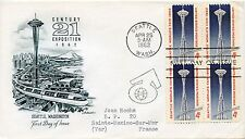 FDC / FIRST DAY COVER / ETATS UNIS SEATTLE CENTURY EXPOSITION 1962 SAINT MAXIME