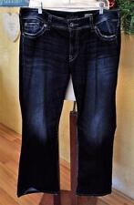 Silver Jeans Sz 20 36X30 Suki Surplus Bootcut Blue/Multi Dark Wash Flap Pocket