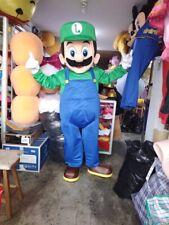 Luigi Mario Bros Mascot Costume Party Character Birthday Halloween Cosplay Event