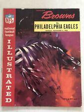 1962 CLEVELAND BROWNS JIM BROWN FOOTBALL PROGRAM VS PHILADELPHIA EAGLES