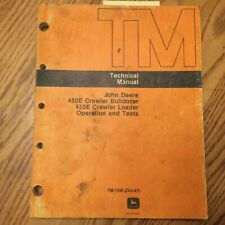 John Deere Jd 450e 455e Technical Service Oampt Manual Crawler Dozer Loader Tm1330