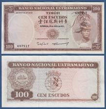 Timor 100 escudos 1963 UNC p. 28