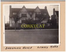 "London.(W3 0ER).3 Links road.""Herford house"".vintage photos x 2.amatuer.1940s"