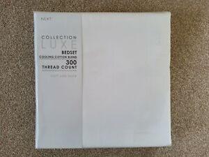 NEXT Collection Luxe Bed Duvet Set 300 TC KINGSIZE White New RRP £46