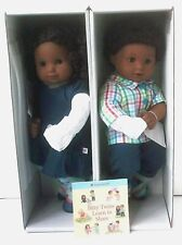 American Girl Bitty Twin Dolls Black Curly Hair Dark Skin Boy/Girl Set NIB