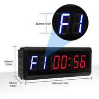 "1.5"" 6 Digits LED Seesii Gym Interval Timer Count Down/Up Clock With IR Remote"