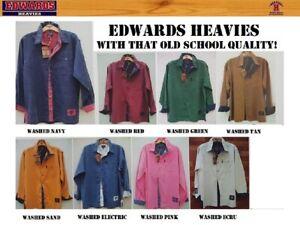NEW EDWARDS HEAVIES MENS LONG SLEEVE SHIRT 100% COTTON TWILL SHIRTS EDWARD HEAVY