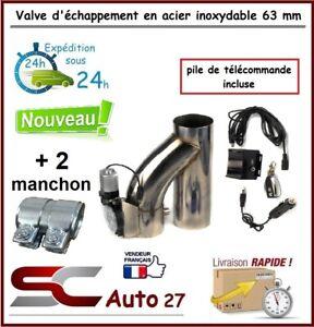 Valve d'échappement exhaust valve télécommandé  63 mm +2 manchons/pile incluse