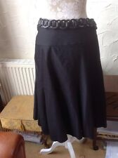 "👀❤️❤️❤️ **Per Una@ M&S **👀 UK 18(EU 46) Black Skirt-LENGTH 27.5""& Belt RRP £35"
