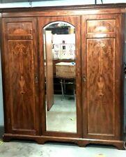 More details for an antique edwards & roberts fine quality triple wardrobe for restoration.
