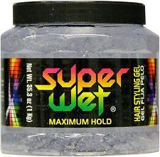 Super Wet Jumbo Hair Styling Gel, Clear 35.30 oz (Pack of 2)
